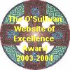 My website won the O'Sullivans Award of Excellence!